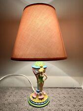 Vintage Tinkerbell Table/Desk/Nightstand Lamp & Shade - Disney