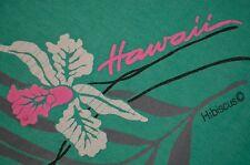 Hawaii Hibiscus Hawaiian Vaporwave Emo Neon Pink Beach L T-Shirt USA VTG 80s 90s