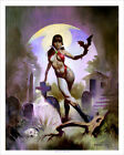 VAMPIRELLA GRAVEYARD! Exotic Horror Mike Hoffman Art Print SIGNED!