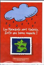 COLLECTOR TIMBRES  LES NORMANDS SONT TIMBRES ENFIN ....10 TIMBRES AUTOCOLLANTS
