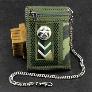 Camouflage Trachten Geldbeutel mit Kette - Herren Der Junge Biker Geldbörse