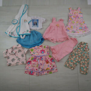 """Lot Of 18"""" Doll Clothes Outfits Homemade Pink Dress Frozen Overalls"""