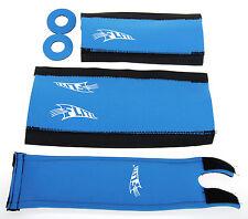 FLITE NEO mid school BMX neoprene foam padset pads*LIMITED EDITION* MEDIUM BLUE