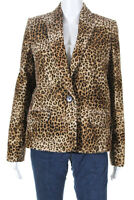 Pallas Womens Fanny Animal Print Jacket Brown Leopard Print Size 38