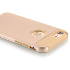 For iPhone 8 7 Case Slim Shockproof Hybrid Rugged Rubber Hard Armor Cover Gold