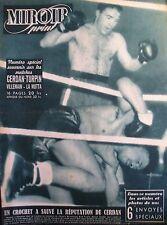 BOXE NUMERO SOUVENIR MATCHS CERDAN TURPIN VILLEMAIN LA MOTTA MIROIR SPRINT 1948