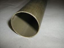 Barra Tubo tondo diam. 45/43 mm in OTTONE LISCIO trafilato lunghezza 50 Cm.