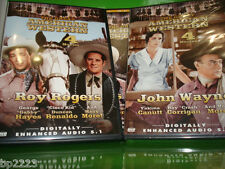 THE GREAT AMERICAN WESTERN 2-DVD SET-John Wayne-Roy Rogers-Jesse James-8 MOVIES