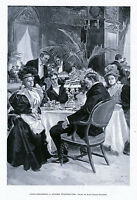 LIQUOR OVER INDULGENCE CAUSES SPOILED THANKSGIVING DINNER ROOM 1896 ARCHITECTURE