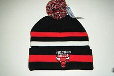 Chicago Bulls  Authentic Cuffed beanie / toque  Knit hat  With Pom New with tag