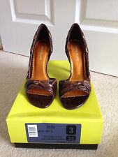 BNWB, Pretty brown leather snake print heels, from river island, Uk size 3, 36.