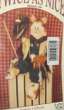 "Primitive Cat doll crafting pattern Fishing Boy 22"" greeter Twice as Nice HP"