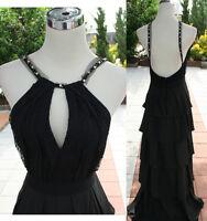 NWT BCBG MAX AZRIA $448 Black Prom Party Ball Gown 2