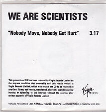 We Are Scientists-Nobody Move Nobody Get Hurt Promo cd single