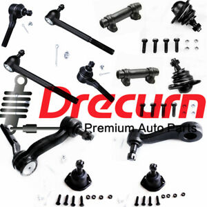 12Pc Front Ball Joints Idler Arm Pitman Arm Tie Rods Kit For Chevrolet GMC 4WD