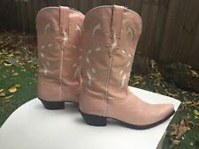 Rare pink cowboy boots cute cowgirl vintage women Eu 40 / Us 9.5 / Uk 7.5