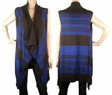 ConMiGo CD200 black and blue long sleeveless fine cardigan