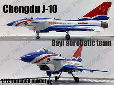 China Bayi air force aerobatic team J-10 aircraft 1/72 plane finished Easy model