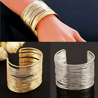 Frauen Vogue Statement Armband Armreifen Vintage Armband Multi Lines ArmreifXUI