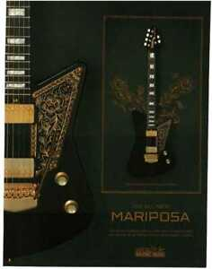 2019 MUSIC MAN Mariposa Deluxe Electric Guitar Imperial Black Magazine Ad