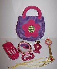Disney Princess Mirror Wand iPlay Pink Flower Purse Play Perfume Bottle Phone