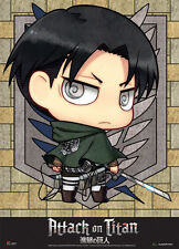 Attack on Titan Chibi Levi Wall Scroll Poster Anime Manga NEW