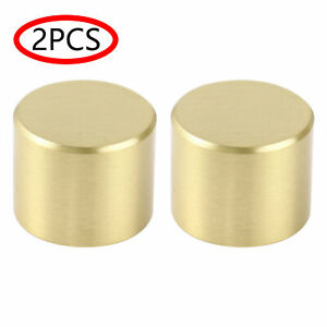 2Pcs Furniture Foot Brass Pad Tip Cap for Mid-Century Modern Sofa Table Leg Foot