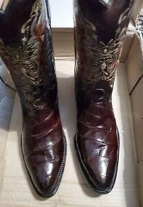 Mouika Somos Calzado Men's  Sz US 13 M Brown Crocodile & Leather Boots (New)