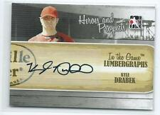 2011 ITG Heroes & Prospects Kyle Drabek Lumbergraphs AUTO AUTOGRAPH RC