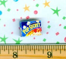 DOLLHOUSE Miniature SIZE Secret Microwave Popcorn Box