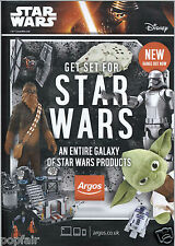 STAR WARS THE FORCE AWAKENS ARGOS STAR WARS PRODUCTS CATALOGUE BROCHURE 2015