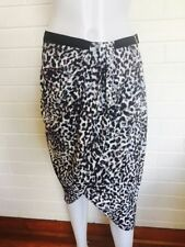 Regular Size Animal Print Knee-Length Straight, Pencil Skirts for Women