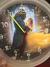 Beauty & The Beast Teaching Wall Clock. Learn Tell Time Personalised Gift Girls