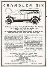 1917 Original Vintage Chandler Six Motor Car Automobile Art Print Ad