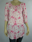 Sussan Ladies 3/4 Sleeve Cotton Loose Fitting Top size 10 Colour Blush
