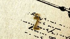 Lettera Alfabeto Z Ciondolo bronzo stile vintage gioielli forniture C32