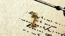 Alphabet letter Z charm bronze vintage style jewellery supplies C32