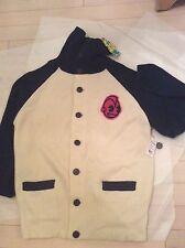 NEW KIdrobot 100% Merino Foldover Button-Front Sweater Jacket - XL