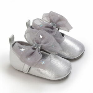 Lovely Infant Princess Dress Party Shoe Newborn Baby Girl Crib Shoes 3 6 9 12 18