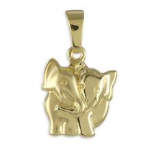 Echtschmuck-Halsketten & -Anhänger aus mehrfarbigem Gold Elefanten