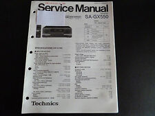Original Service Manual  Technics Receiver SA-GX550
