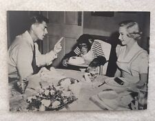 Ronald Reagan and Diane Lynn Movie Star Photo Postcards