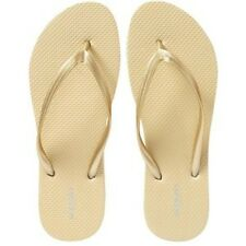 NWT Ladies FLIP FLOPS Old Navy Thong Sandals GOLD Shoes SIZE 7,8,9,10,11