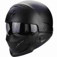 Scorpion Exo Combat Military Street Urban Motorcycle Modular Helmet Matt Black