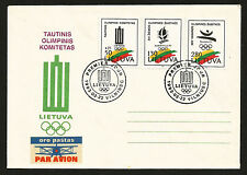 1992 INDEPENDENT LITHUANIA OLYMPIC COMMITTEE & BARCELONA GAMES FIRST DAY COVER