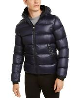 Calvin Klein Men's Slim-Fit Hooded Water Resistant Down Jacket, New Navy L - NEW