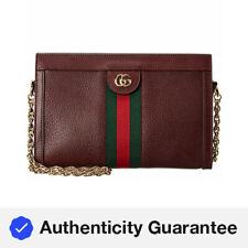 Gucci Ophidia pequeña de cuero bolso de hombro para mujer Rojo Pequeño