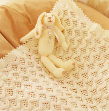 Baby Pram Blanket Zig Zag Pattern ~  DK Knitting Pattern