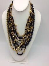 Gold & black Multi layer statement necklace C11