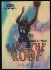 "1999-00 Fleer Mystique Raise The Roof Shaquille O'Neal Lakers HOF /100 "" SHARP """